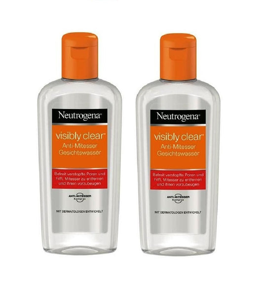 2xPack Neutrogena Visibly Clear Anti-Blackhead Toner - 400 ml