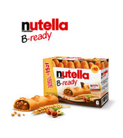 3- 10xPacks Nutella B-Ready by Ferrero, Chocolate Nougat-Cream filled Bread (30) Sticks **FREE SHIPPING**