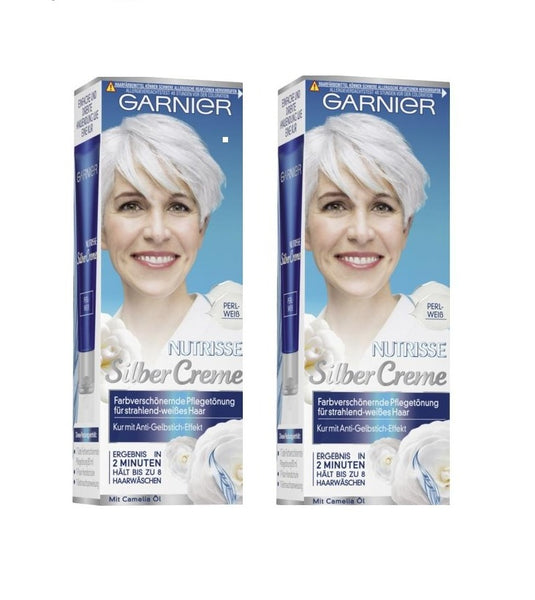 2 Packs GARNIER NUTRISSE SILVER CARE ANTI-GRAY CREAM (Pearl White) - Eurodeal.shop