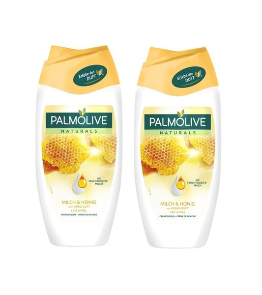 2x Pack Palmolive Naturals Bath/Shower Cream Milk & Honey 250 ml each - Eurodeal.shop
