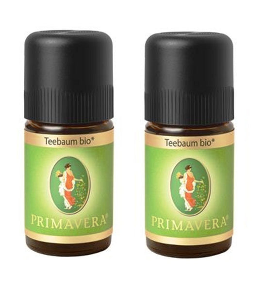 2xPack PRIMAVERA Organic Tea Tree Oil - 5 ml each - Eurodeal.shop