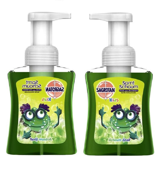 2xPack SAGROTAN Kids Anti-Bacteria Velvet Soap Foam Fun - 500 ml