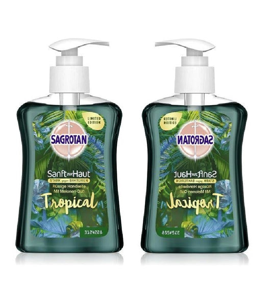 SAGROTAN Tropical Anti-Bacteria Gentle Liquid Hand Soap - 500 ml