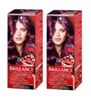 2xPack Schwarzkopf BRILLANCE Tinting Cream 888 Dark Cherry