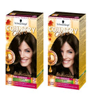 2xPack Schwarzkopf Country Colors Intensive Tint -  70  Brazil Dark Brown