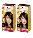 2xPack Schwarzkopf Country Colors Intensive Tint -  71 Cocoa Dark Golden Brown