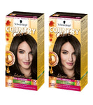 2xPack Schwarzkopf Country Colors Intensive Tint -  80 Arabia Black Brown