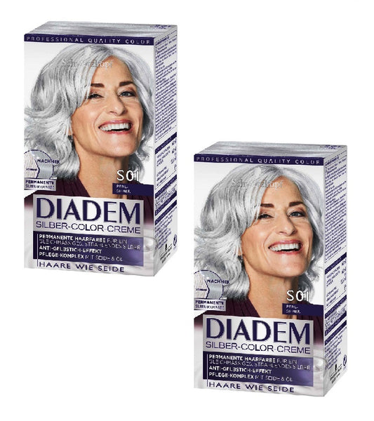 2xPack Schwarzkopf DIADEM Silver Color Hair Cream S01