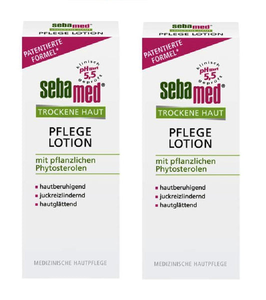 2xPack SEBAMED Dry Skin Care Lotion - 200 ml each