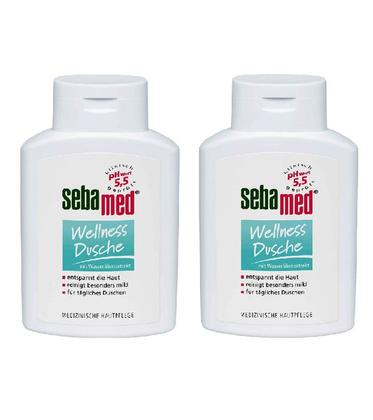 2xPacks Sebamed Shower Gels 200 ml each - FOUR Varieties