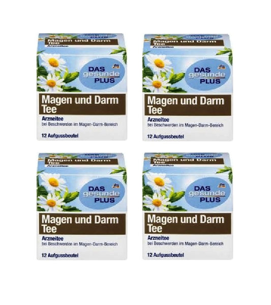 6x Pack Das Gesunde Plus or Altapharma Stomach and Intestinal Tea - 48 Bags