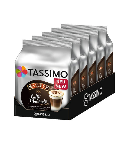 5-Packs TASSIMO Latte Macchiato Baileys T Discs Coffee Capsules 5 x 8 Drinks