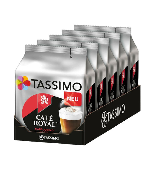 4-Packs TASSIMO Café Royal Cappuccino Forte T Discs Coffee Capsules