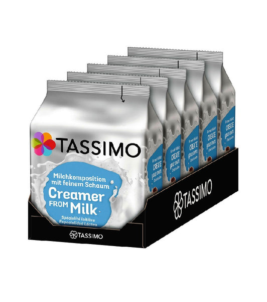 5-Packs TASSIMO Milk Creamer T Discs Capsules 5 x 16 Drinks