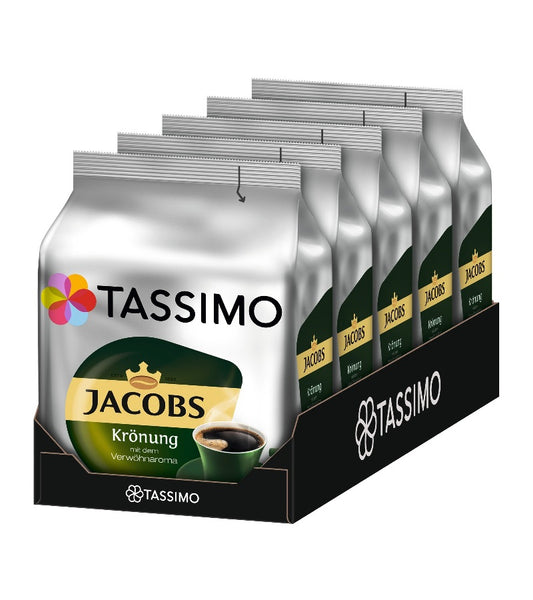 5-Packs TASSIMO Jacobs Coronation Coffee T Discs (5 x 16 Drinks)