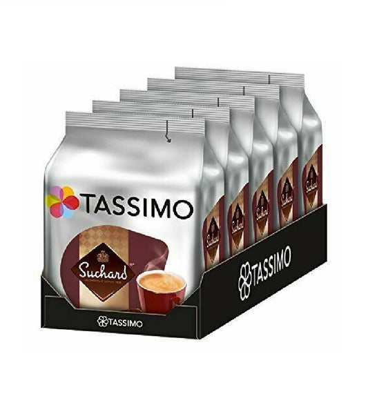 5-Packs TASSIMO Suchard Cocoa Specialty Chocolate Capsule 5 x 16 T-Discs