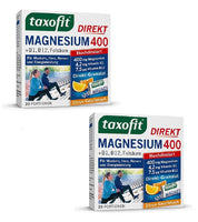 2xPacks Taxofit Magnesium 400+B1+B6+B12+Folic Acid 800 Direct Granules,