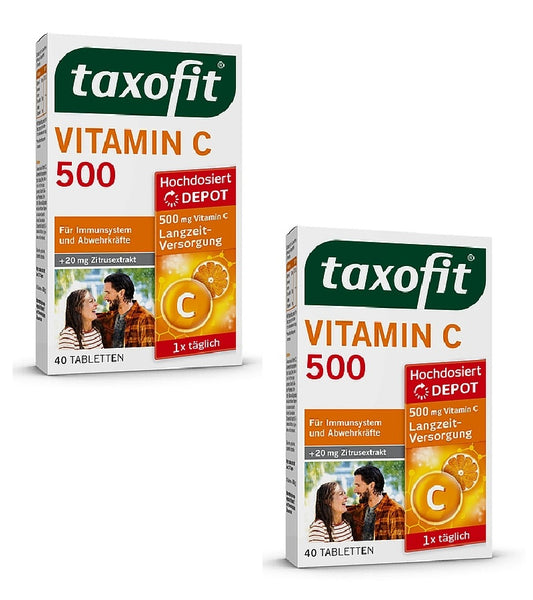 2xPacks Taxofit Vitamin C 500 Depot Tablets for Normal Immune System