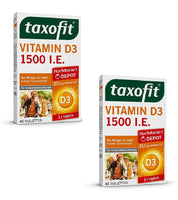 2xPacks Taxofit Vitamin D3 1500 IU Depot Tablets