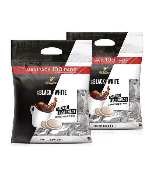 2xPack Tchibo Black'n White Coffee Maxi Packs - 200 Pads