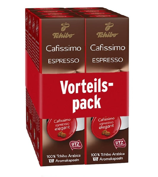 Tchibo Cafissimo Espresso Coffee 80 Capsules- ELEGANT (Choose from Six Varieties) - Eurodeal.shop