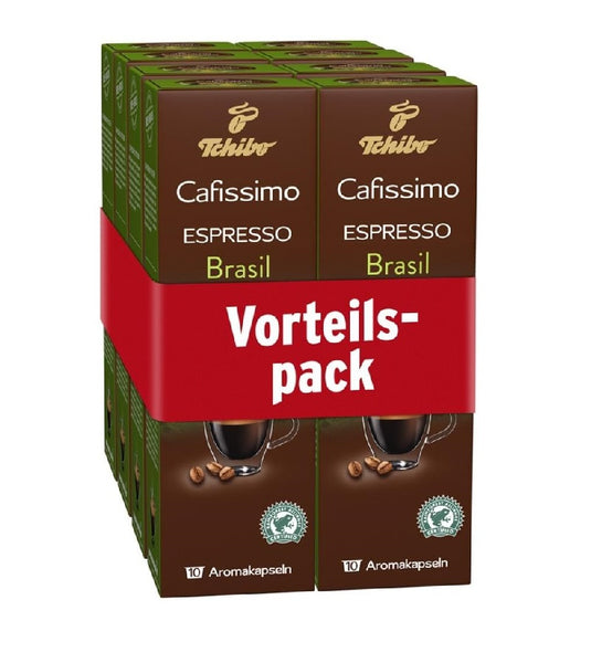 Tchibo Cafissimo Espresso Coffee 80 Capsules- BRAZIL (Choose from Six Varieties) - Eurodeal.shop