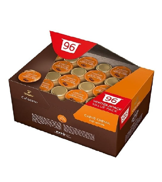 Tchibo Cafissimo 96 Capsules Stock Box -  CREMA FULL-BODIED (Four Different Flavors)