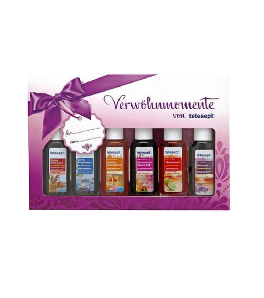 "Tetesept 6 Piece ""Pampering Moments"" Bath Additives in Gift Box - Eurodeal.shop"