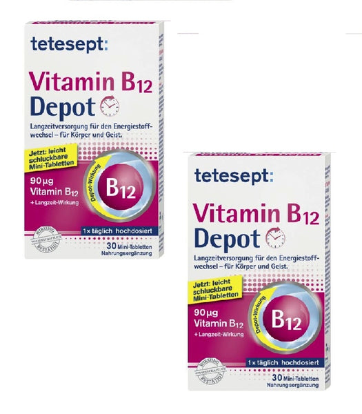 2x Pack Tetesept Vitamin B12 Depot Mini Tablets - Eurodeal.shop
