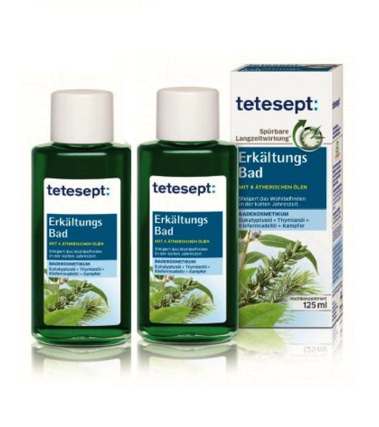 2xPack Tetesept Cold Relief Bath Oil - 250 ml