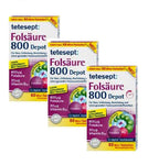 3xPack Tetesept Folic Acid 800 Depot Mini Tablets - 180 Tablets