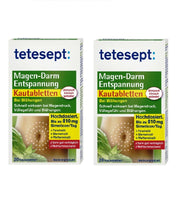 2xPack Tetesept Gastrointestinal Relaxation Chewable Tablets - Eurodeal.shop
