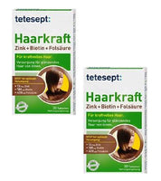 2xPack Tetesept Healthy Strong Hair Zinc+Biotin+Folic Acid Tablets