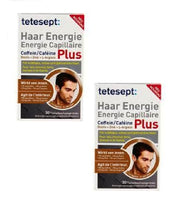 2xPack Tetesept Hair Energy Caffeine Plus Tablets - 60 Pieces