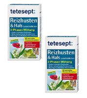 2xPack Tetesept Irritating Cough & Throat Lozenges - 40 pieces