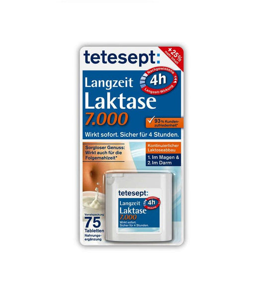 Tetesept Long-term Lactase 7,000 Dietary Supplement - Eurodeal.shop