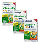 3xPack Tetesept Vitamin K2+D3 Tablets for Strong Bones - 90 Tablets