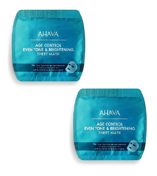 2xPack AHAVA Age Control Even Tone & Brightening Sheet Masks