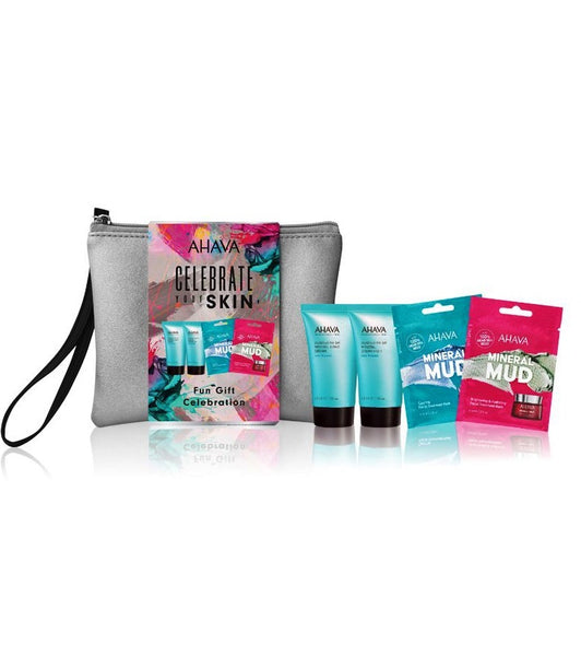 AHAVA Celebrate Your Skin Fun Gift Celebration Body Care Set for Women