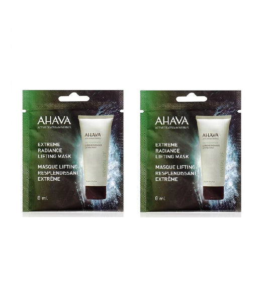 2x Pack AHAVA Extreme Radiance Lifting Mask Single Use - 8 ml each - Eurodeal.shop