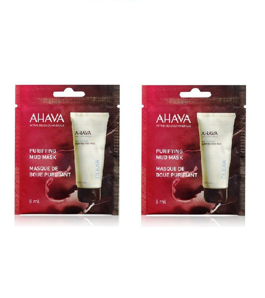 2x Pack AHAVA Purifying Mud Mask Single Use - 16 ml - Eurodeal.shop