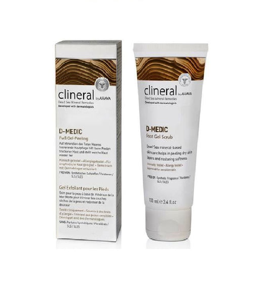 clineral D-MEDIC Foot Gel Scrub - 100 ml - Eurodeal.shop