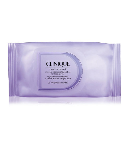 CLINIQUE Take The Day Off Micellar Cleansing Towelettes for Face & Eyes - 50 Pcs