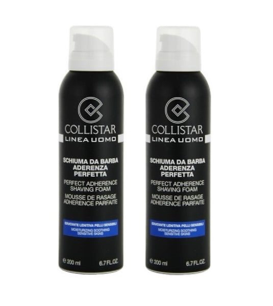 2xPack Collistar Man Shaving Foam for Sensitive Skin - 400 ml