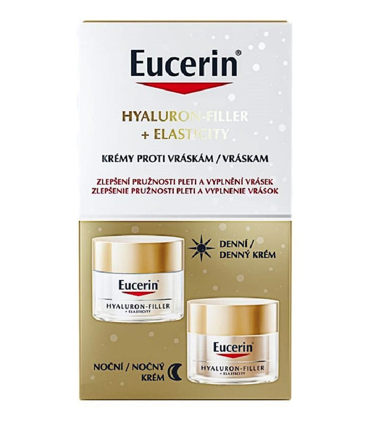 Eucerin Hyaluron-Filler + Elasticity Anti-aging Day & Night Cream Set - 30 ml
