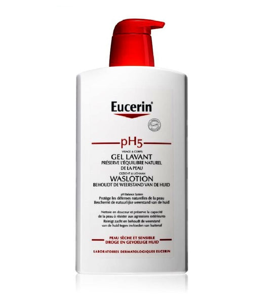 Eucerin pH5 Shower Cream for Sensitive Skin - 1000 ml