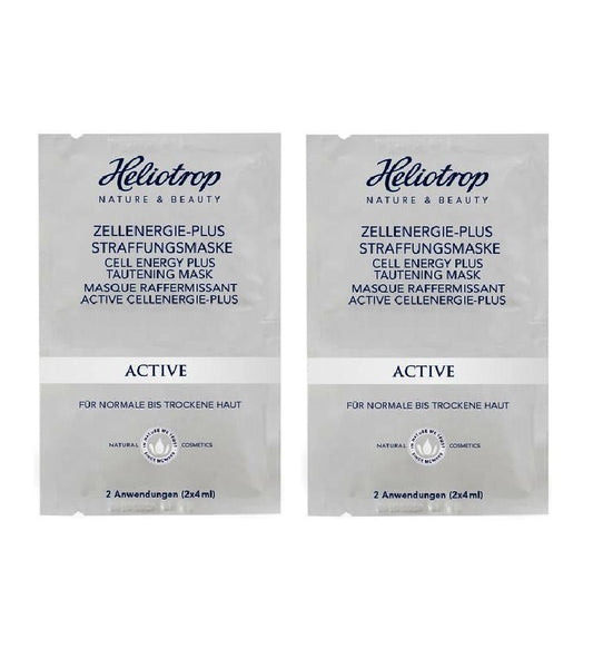 2x Pack Heliotrop ACTIVE Cell Energy Plus Tightening Mask - 16 ml - Eurodeal.shop
