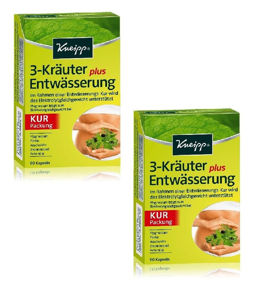 2xPack Kneipp 3-Herbs plus Sotmach Drainage Capsules -120 Capsules