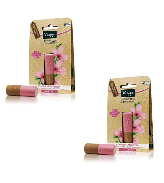 2xPack Kneipp Almond & Candelilla Lip Balm Sticks