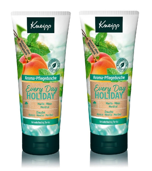 2xPack Kneipp Every Day Holiday Apricot - Mint - Menthol - 400 ml